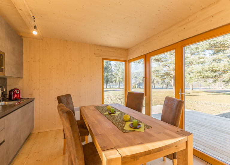 Mobiles Holzhaus Innen