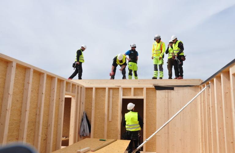 Errichtung Segelschul-Gebäude