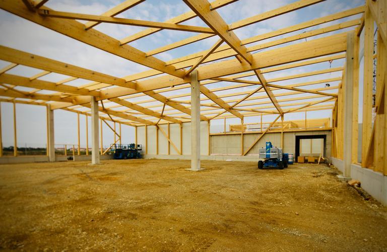 Errichtung Holzhalle