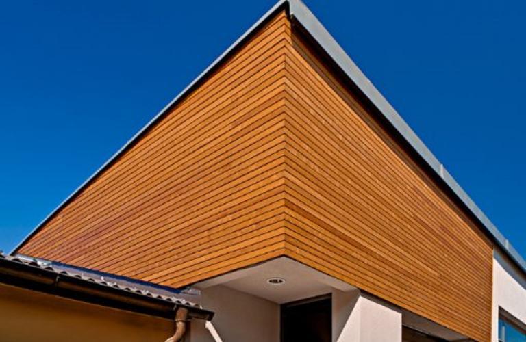 Holzfassade Einfamilienhaus